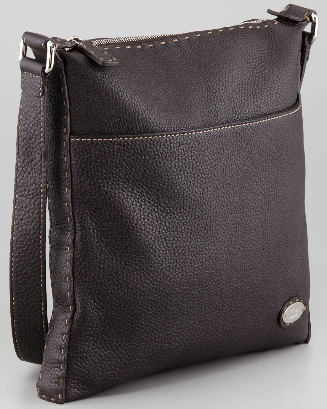 e22939e418b Fendi selleria mens medium messenger bag dark brown   Fendi ...