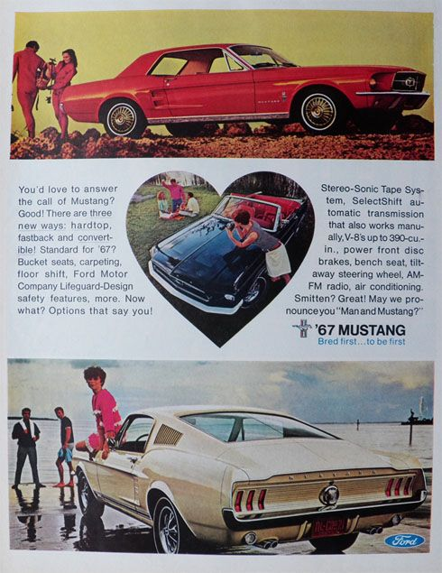 The Unexpected 1965 FORD MUSTANG Retro Metal Tin Sign