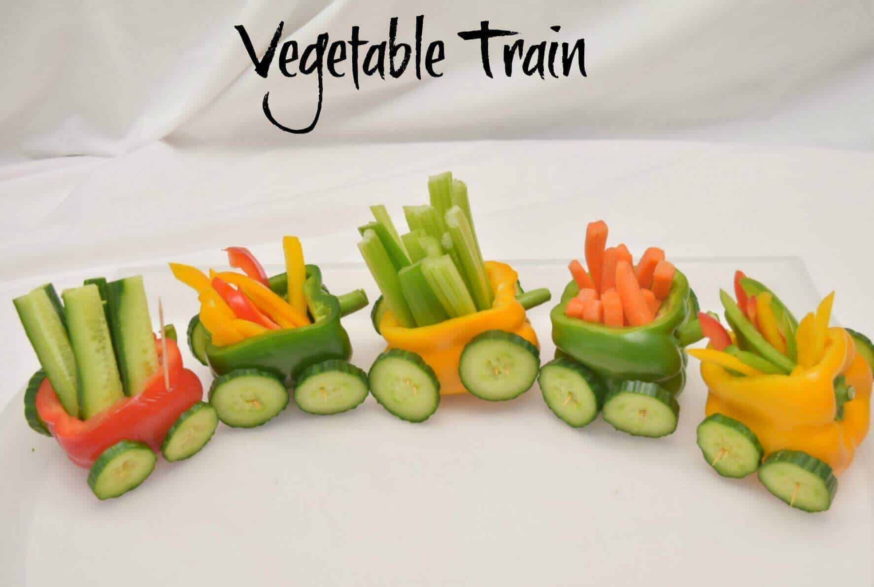 Vegetable Train A Fun Party Food Idea · The Inspiration Edit #childrenpartyfoods