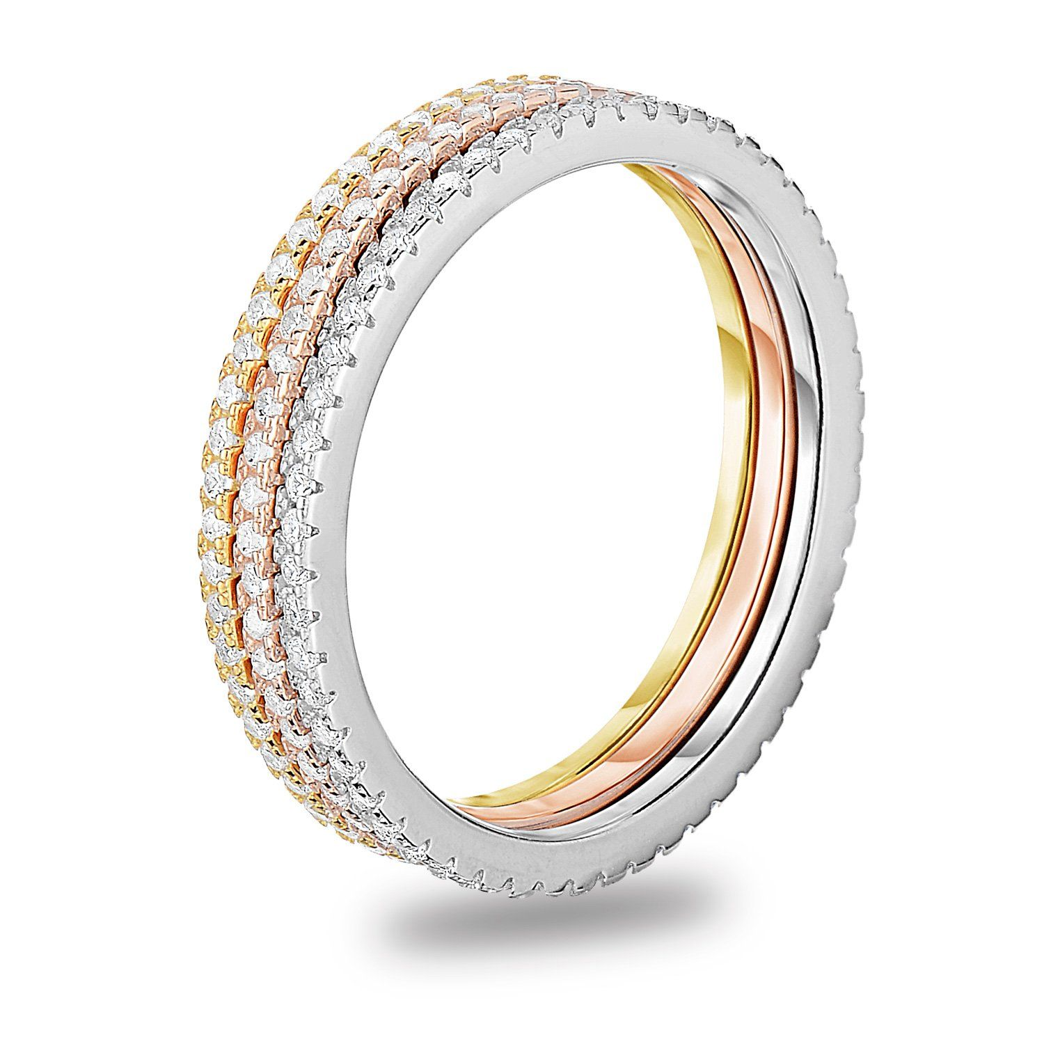 Spoil Cupid 925 Sterling Silver Cubic Zirconia Stackable