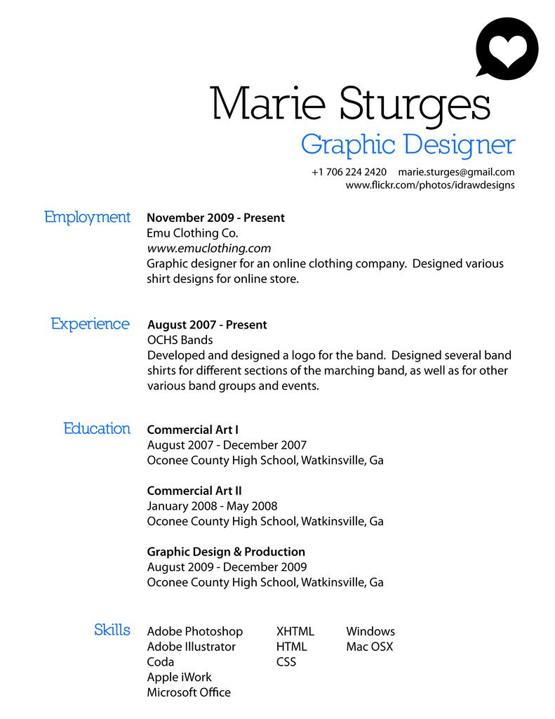 Resume  Example Of Attractive Graphic Design  Graphic Design