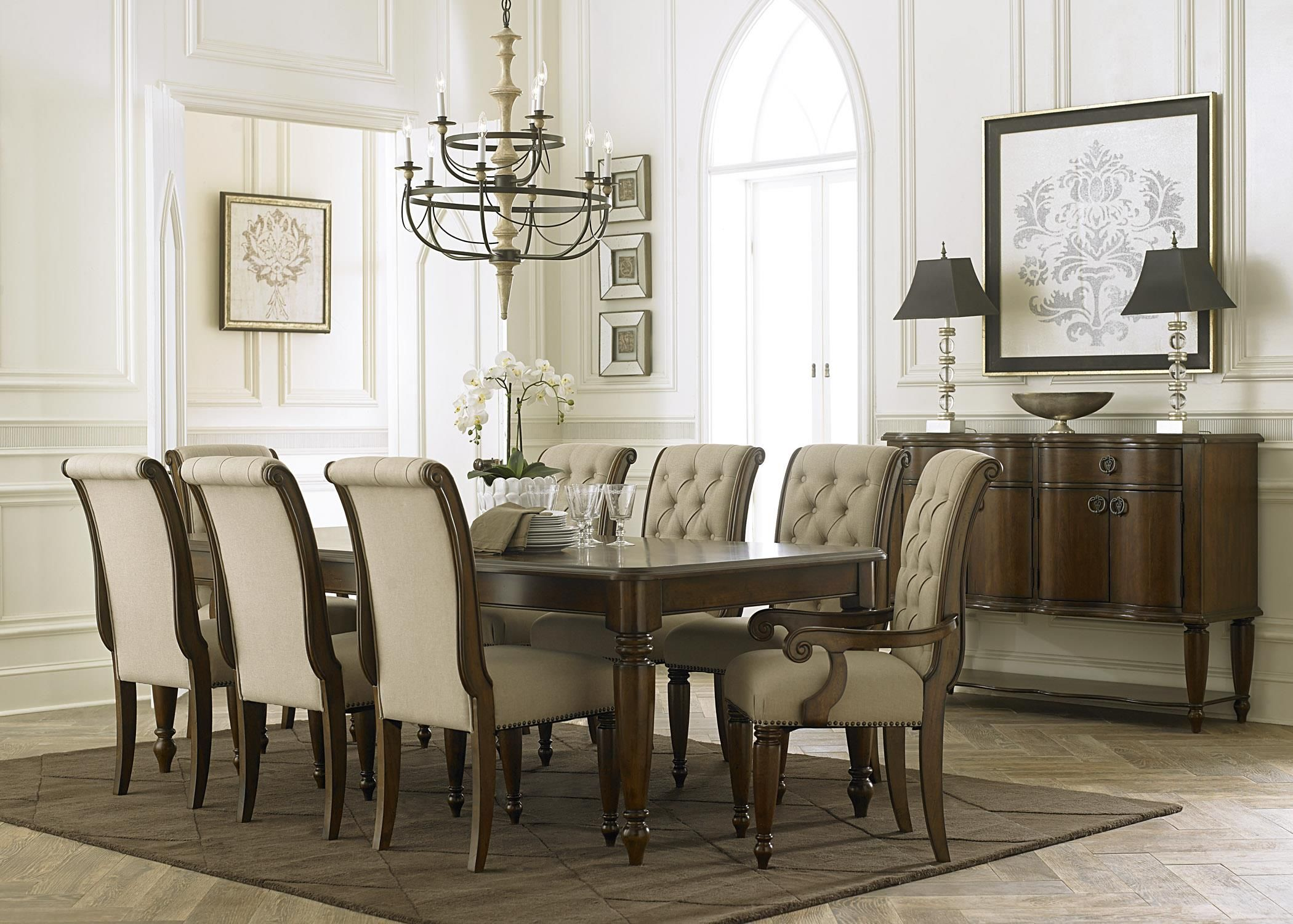 Cotswold Formal Dining Room Groupsarah Randolphj At Virginia Prepossessing 9 Pcs Dining Room Set Design Decoration