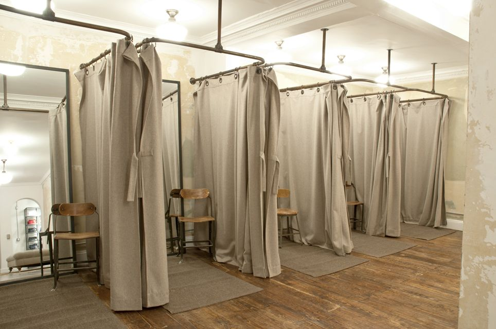 Like The Ease Of This In All White Retail Dressing Room Ideas