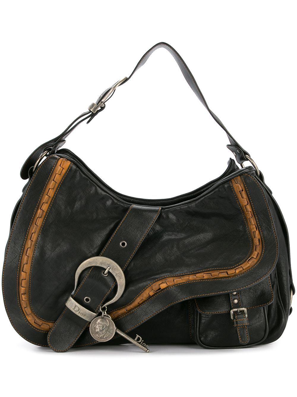 Dior Christian Vintage Gaucho Saddle Shoulder Bag Black Modesens Bags Christian Dior Vintage Shoulder Bag