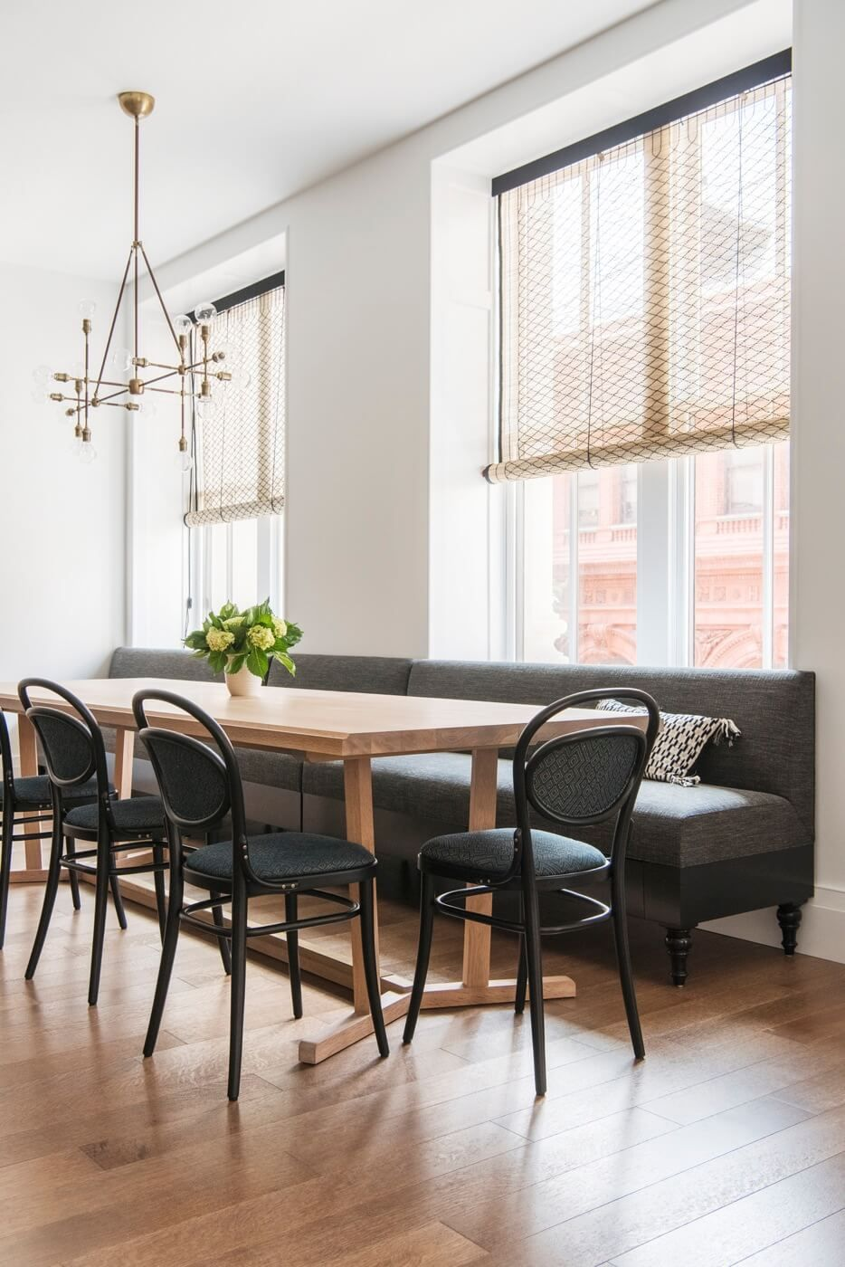 dining room bench table | Interior Design Ideas Brooklyn Ensemble Architecture ...