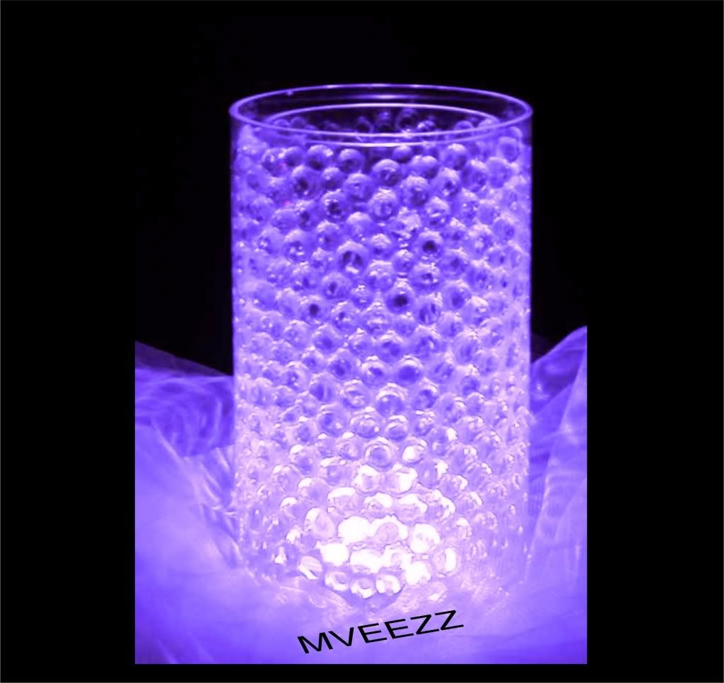 Details About 10 White Submersible Amp 10 Packs Water Beads Aqua Gel Balls Floralyte Led Lights In