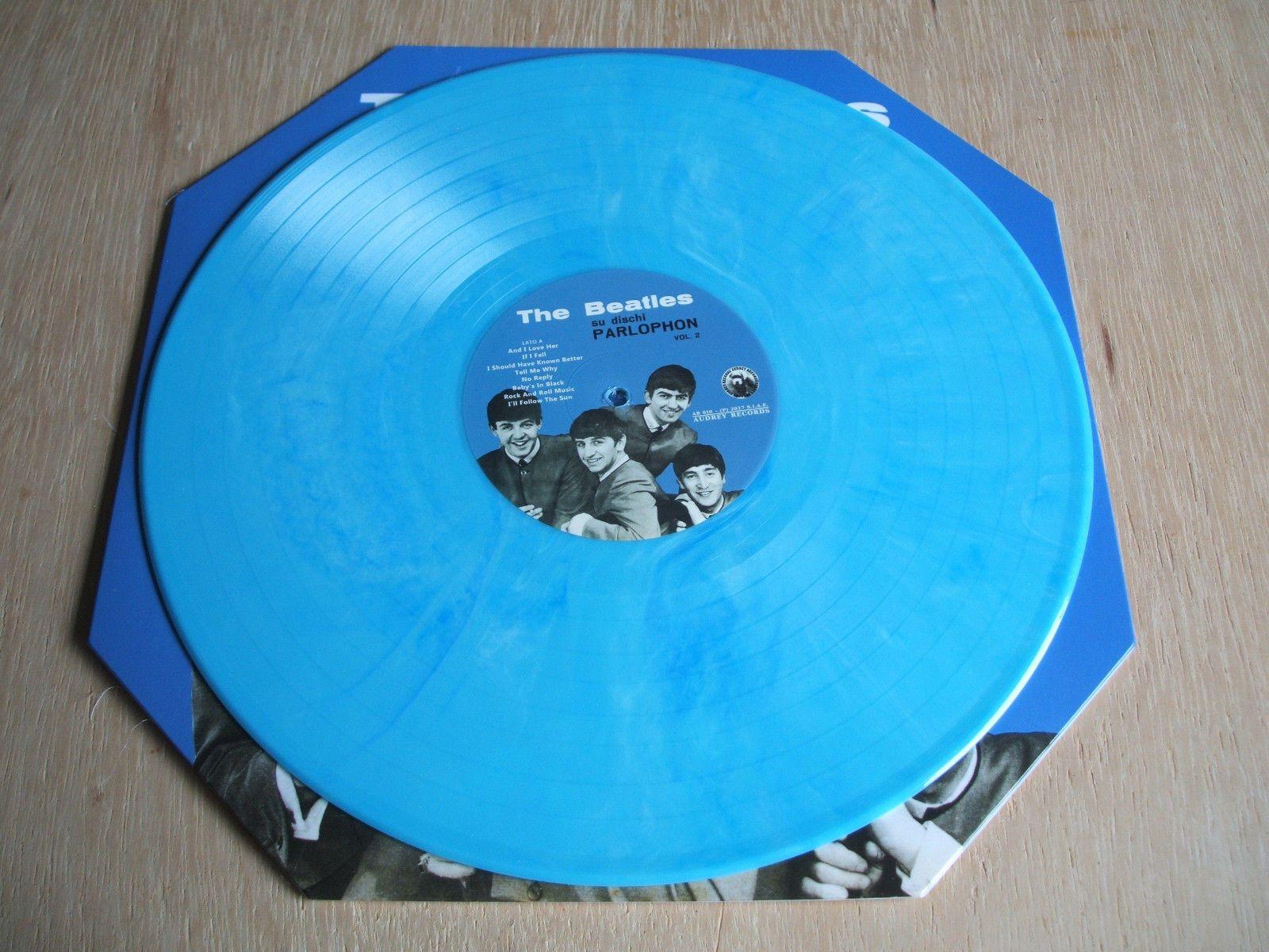 The Beatles Su Dischi Parlophon Vol 2 Blue Vinyl Lp Octagon Sleeve Blue Vinyl Vinyl Vinyl Records