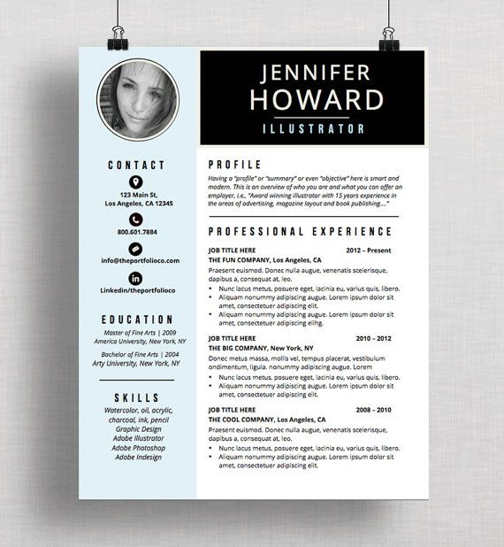 Resume Template CV Template + Cover Letter Modern Resume Designs - apple pages resume templates