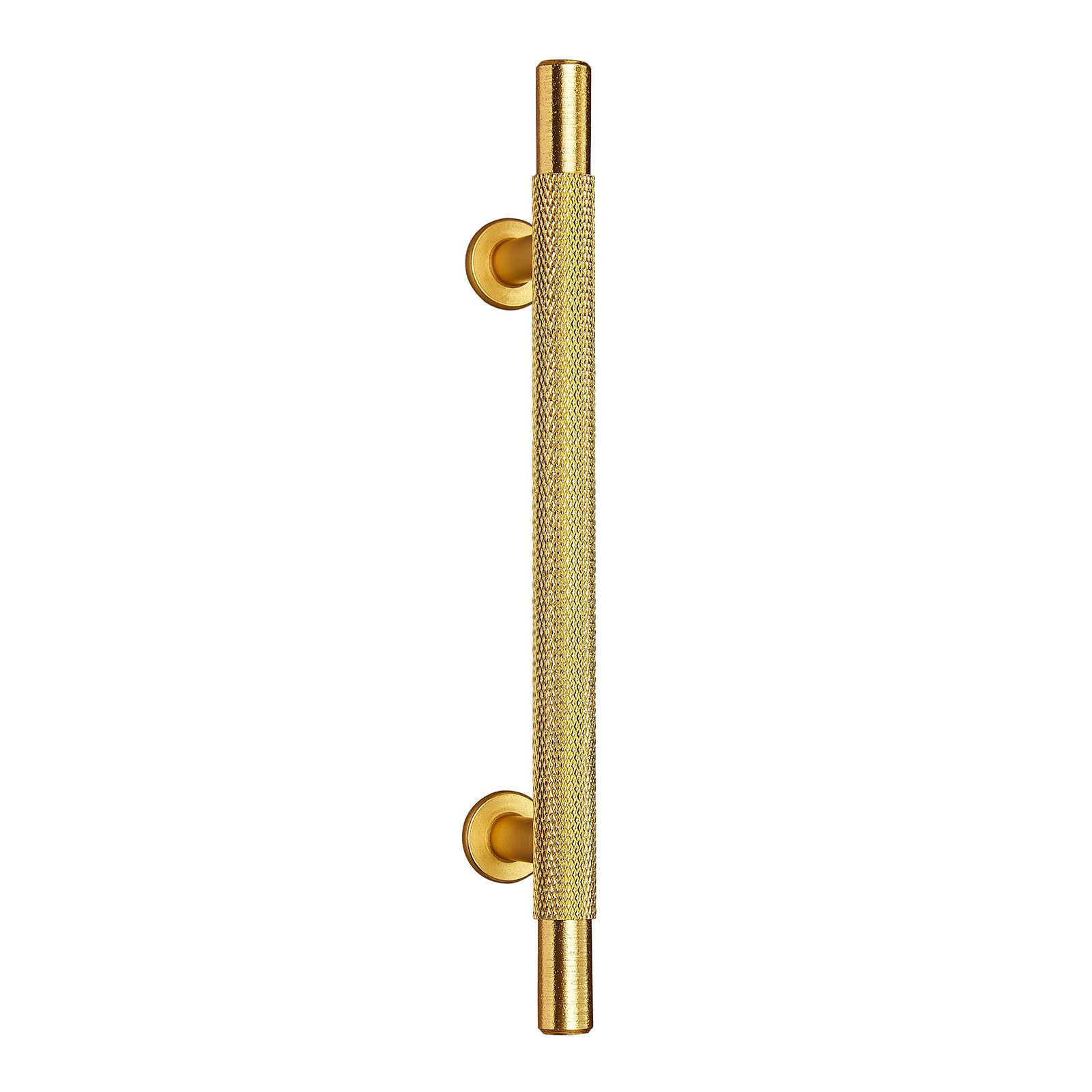 Polished Brass Knurled T Bar Cabinet Handle 96mm C C P1106pb Ironmongery Experts Polished Brass Cabinet Handles Cupboard Handles