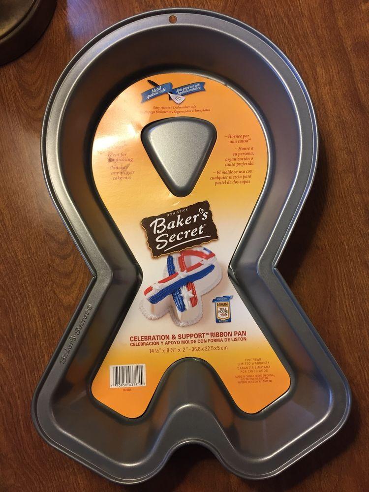 Baker S Secret Celebration And Support Ribbon Cake Pan Bake For