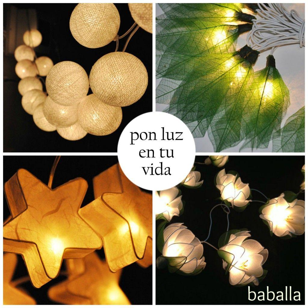 Guirnaldas de luz. Tienda de Etsy