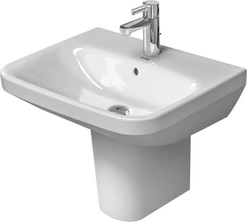 "Duravit 2319550000 DuraStyle 21-5/8"" Ceramic Bathroom Sink for Wall Mounted or P White Fixture Lavatory Sink Vitreous China"