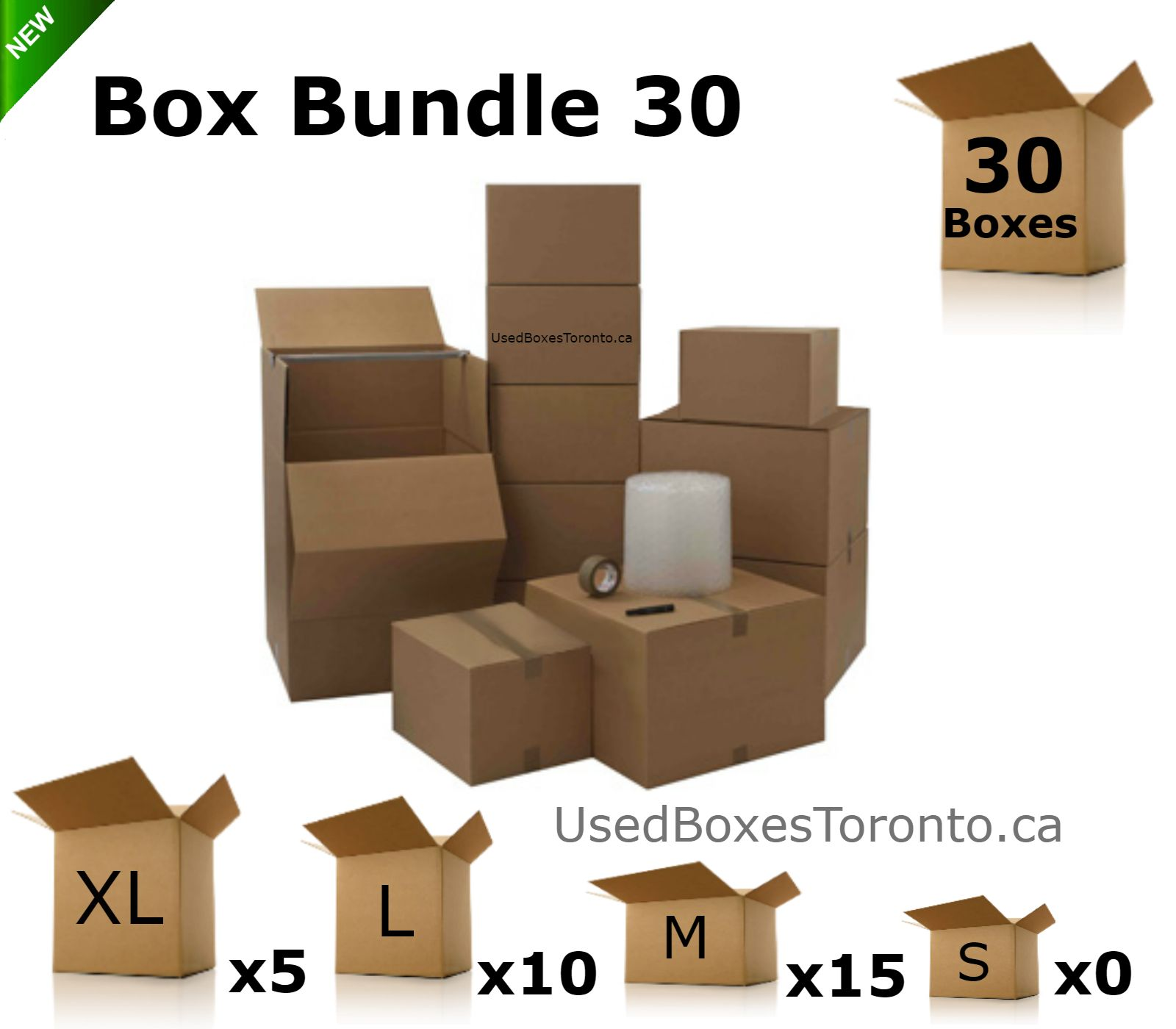 moving box bundle 30 10 small boxes 2 cu ft 10 medium boxes 3