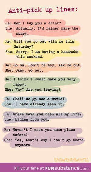 Witty comebacks to pick up lines