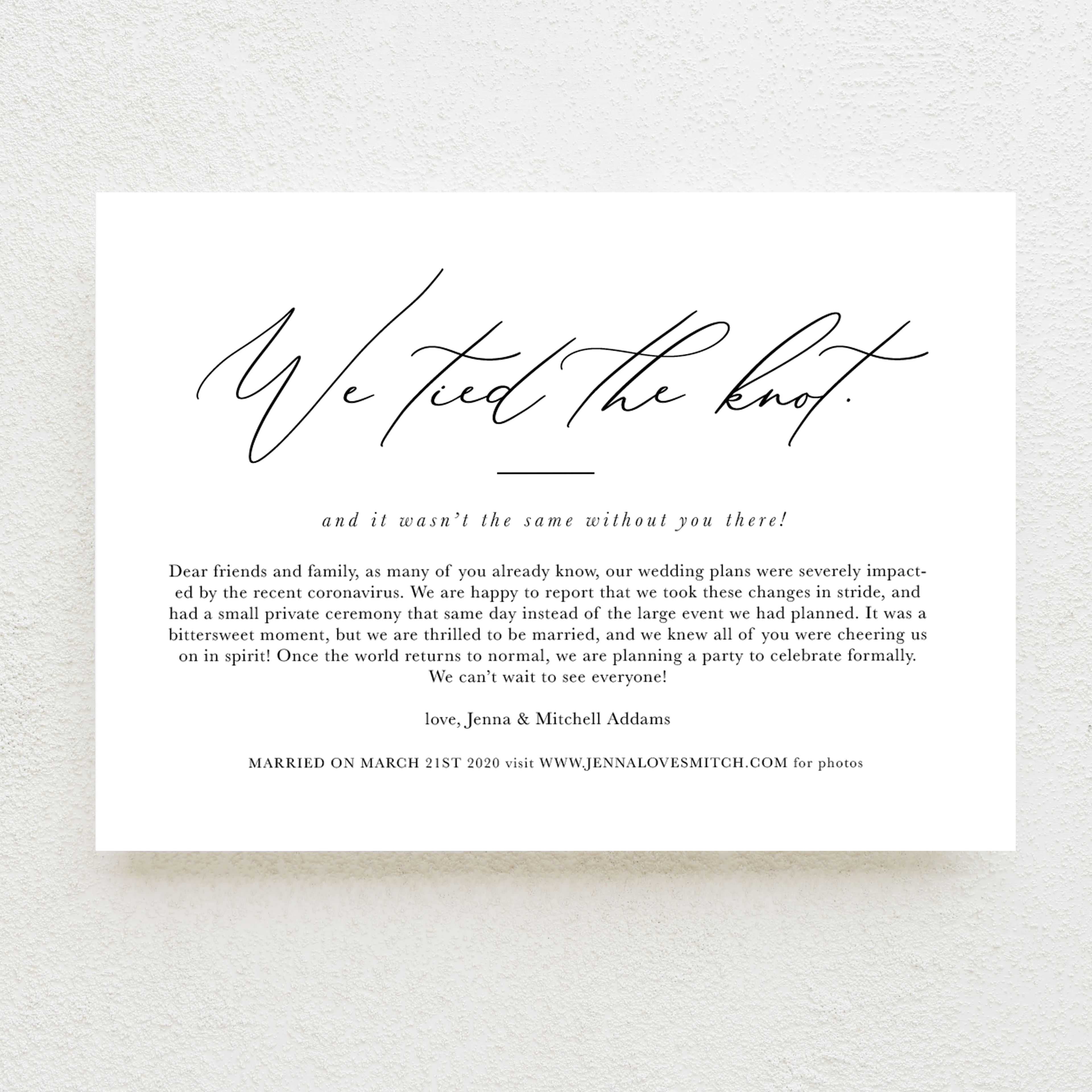 Lovely Letter Elopement Announcements Wedding Photography Funny Wedding Invitations Photography Hin Elopement Announcement Wedding Announcement Cards Marriage Announcement