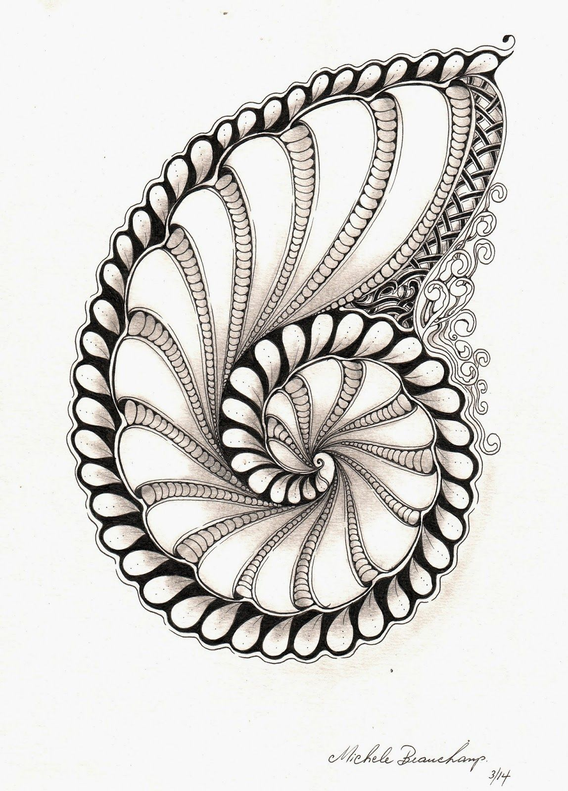 Shelly Beauch Just Black And White Zentangle Kunst Zentangle Muster Zeichenkunst