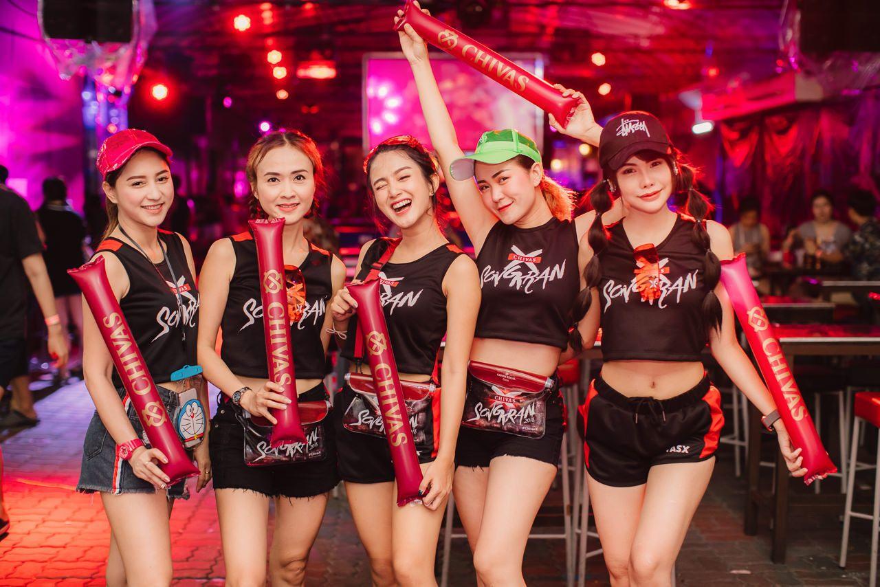 Chivasx Wine Bridge Plus Songkran 2018 Siam2nite Wine Umbrella Girl Festival