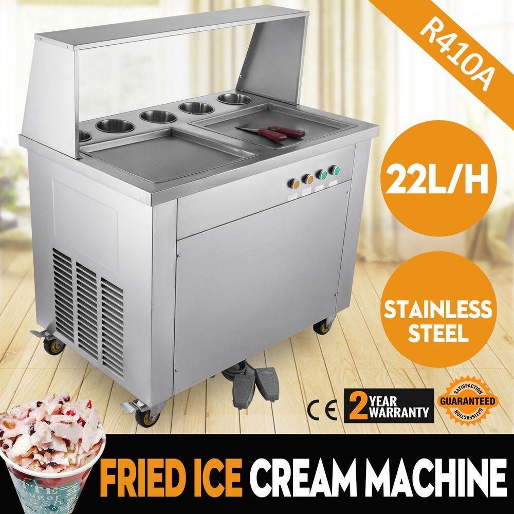 Ebay Sponsored Double Pan Fried Ice Cream Machine 5 Boxes Thai