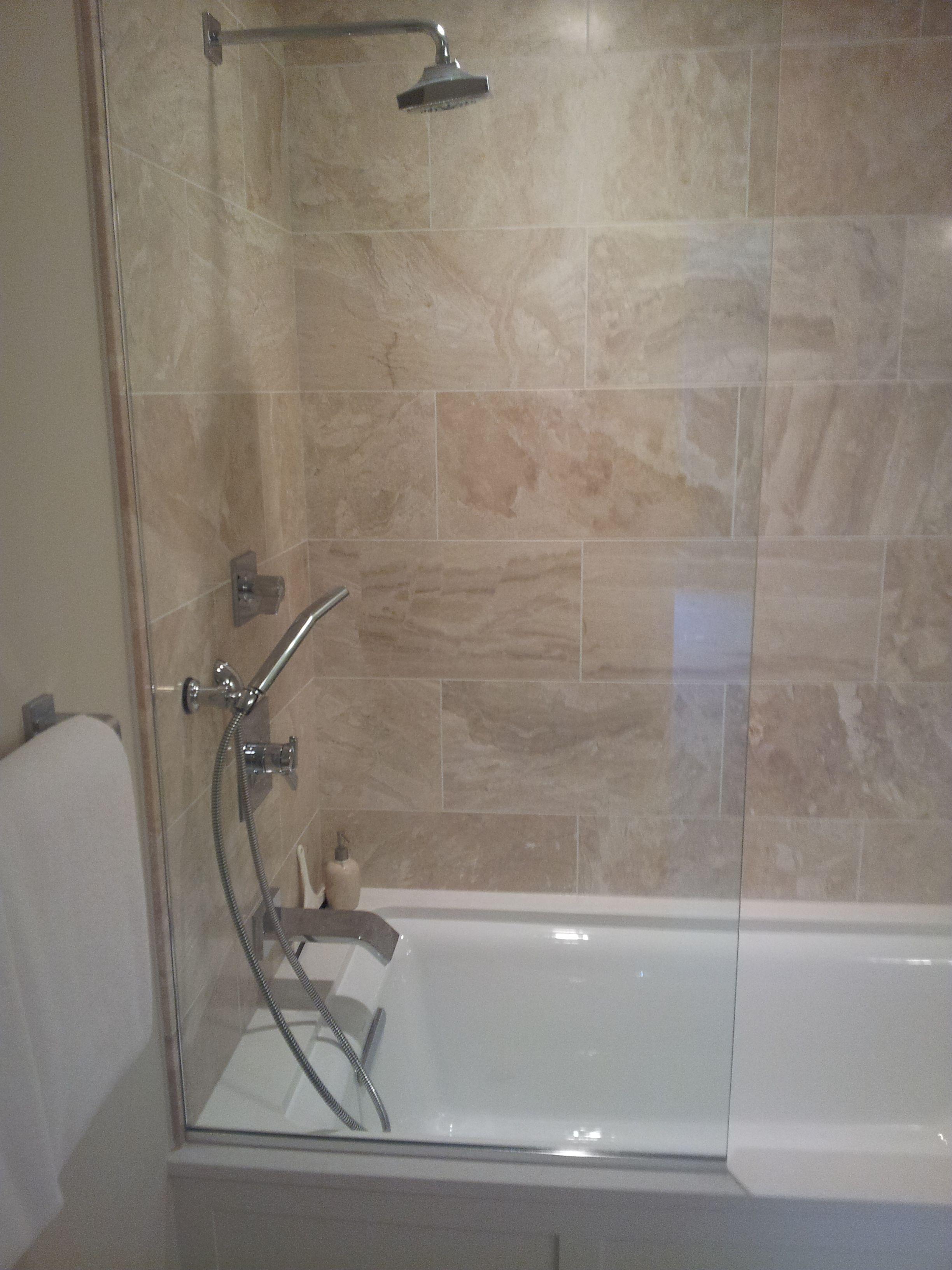Frameless Splash Guard Frameless Shower Enclosures