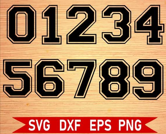 Sports Numbers SVG Bundle, Numbers for Jersey svg, Varsity