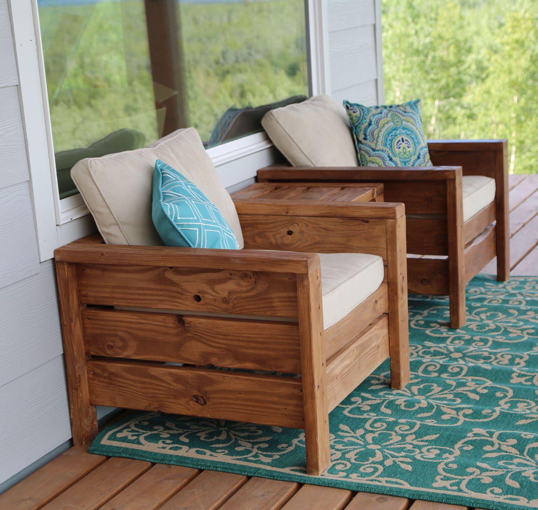 diy wood deck chairs