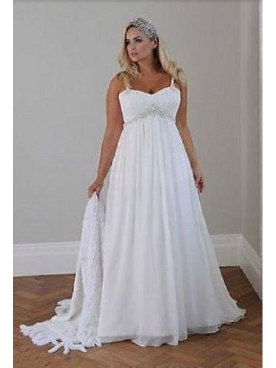 89e5ca14091a Empire Chiffon Plus Size Maternity Wedding Dresses Bridal Gowns 99603289