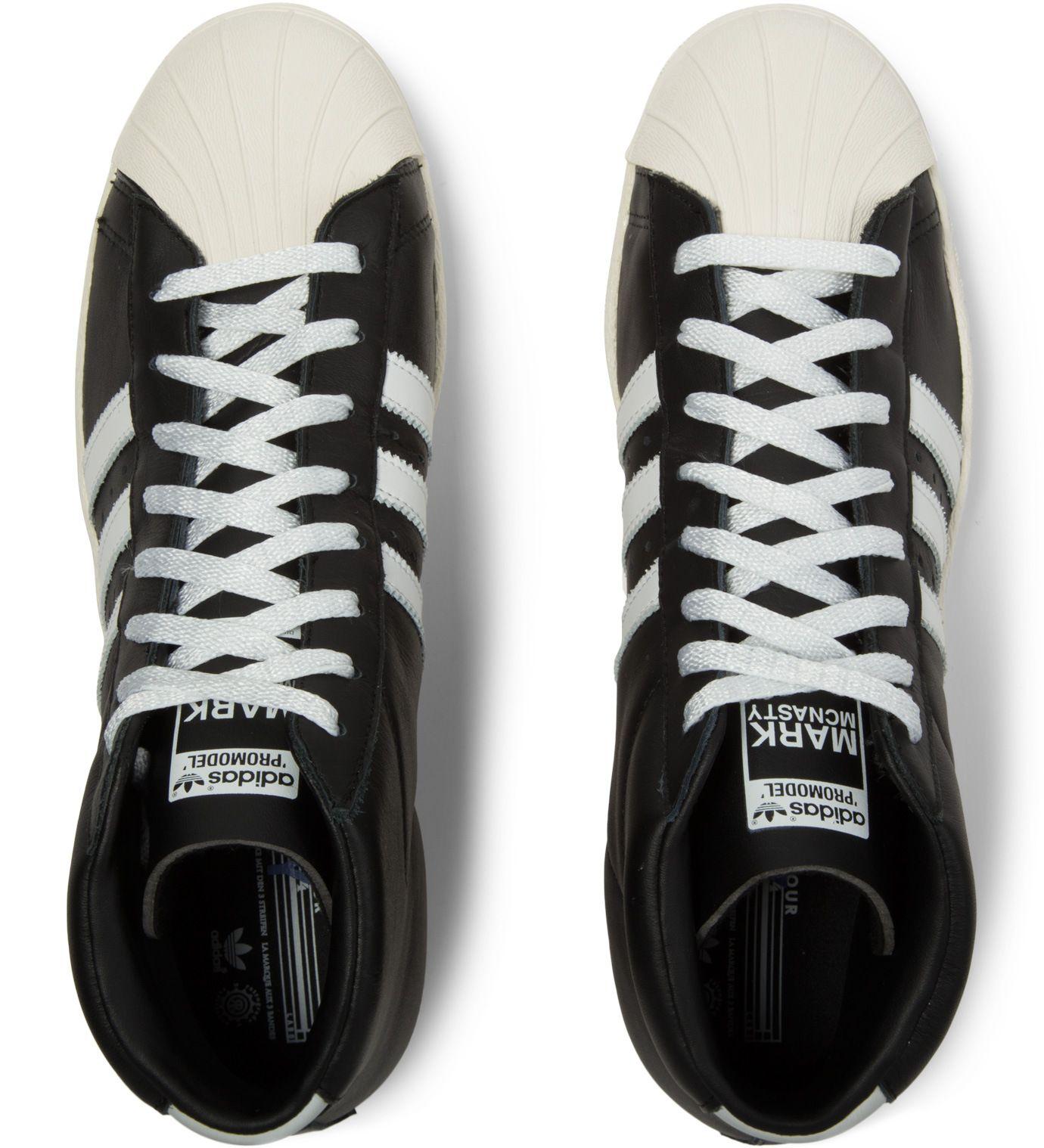 BlackWhite MCN Pro Model 84 LAB Shoes | Shoes, Adidas