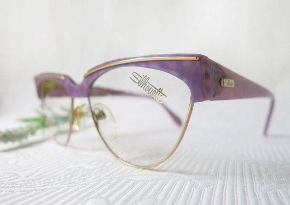Silhouette Ladies Glasses Purple Gold Vintage Brillen