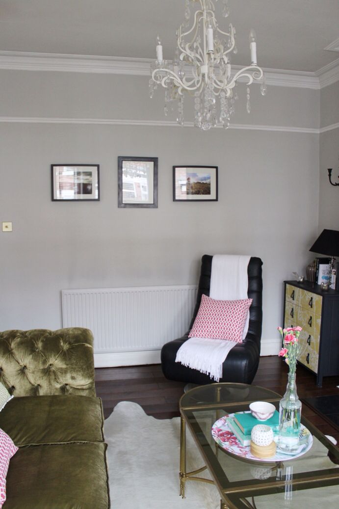 Dove Grey Walls White Picture Rail Diy Home Improvement