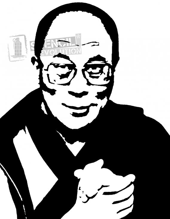 Download your free Dalai Lama Stencil here. Save time and start your project in minutes. Get printable stencils for art and designs.