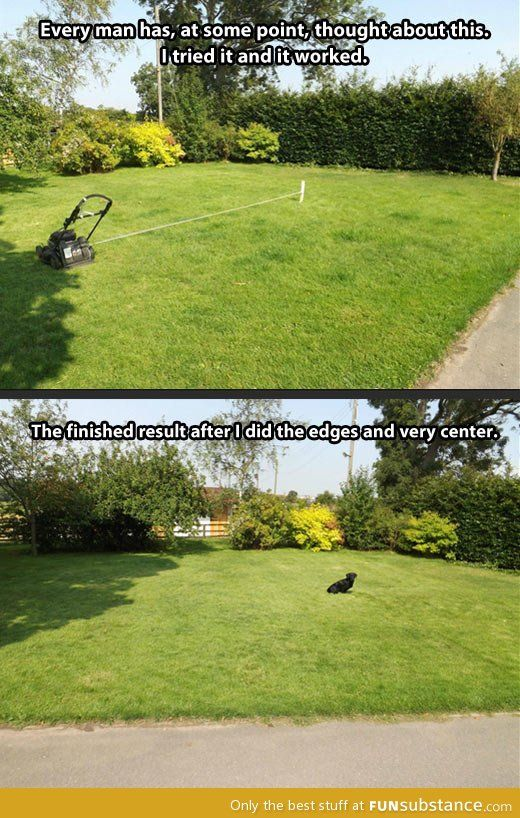 Lawn Mowing Made Easy Funsubstance Mowing Easy Lawn Mowing Outdoor Landscape Lighting