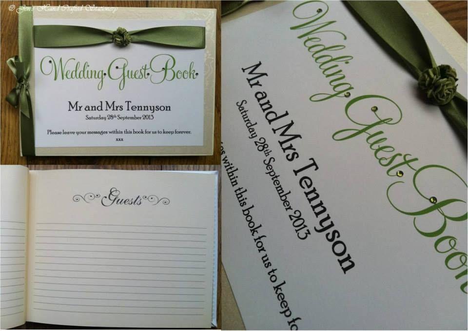 sage green rose wedding guest book www