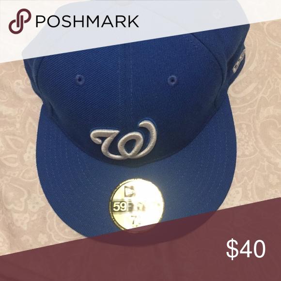 Washington nationals hat mint condition! Blue Washington nationals hat  never used!! Accessories Hats 4dfef608516