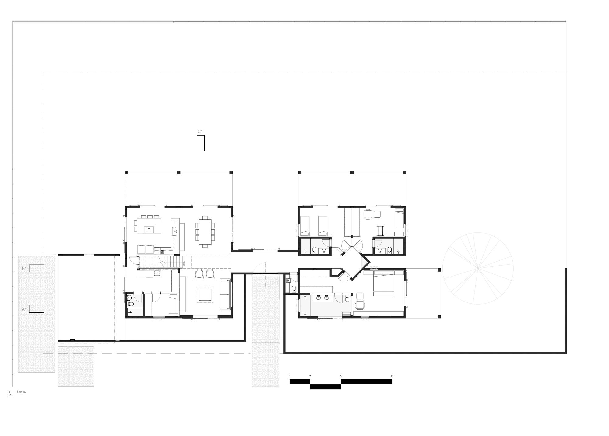 Gallery Of Paineira House Bloco Arquitetos 28 Site Plan House Floor Plans How To Plan