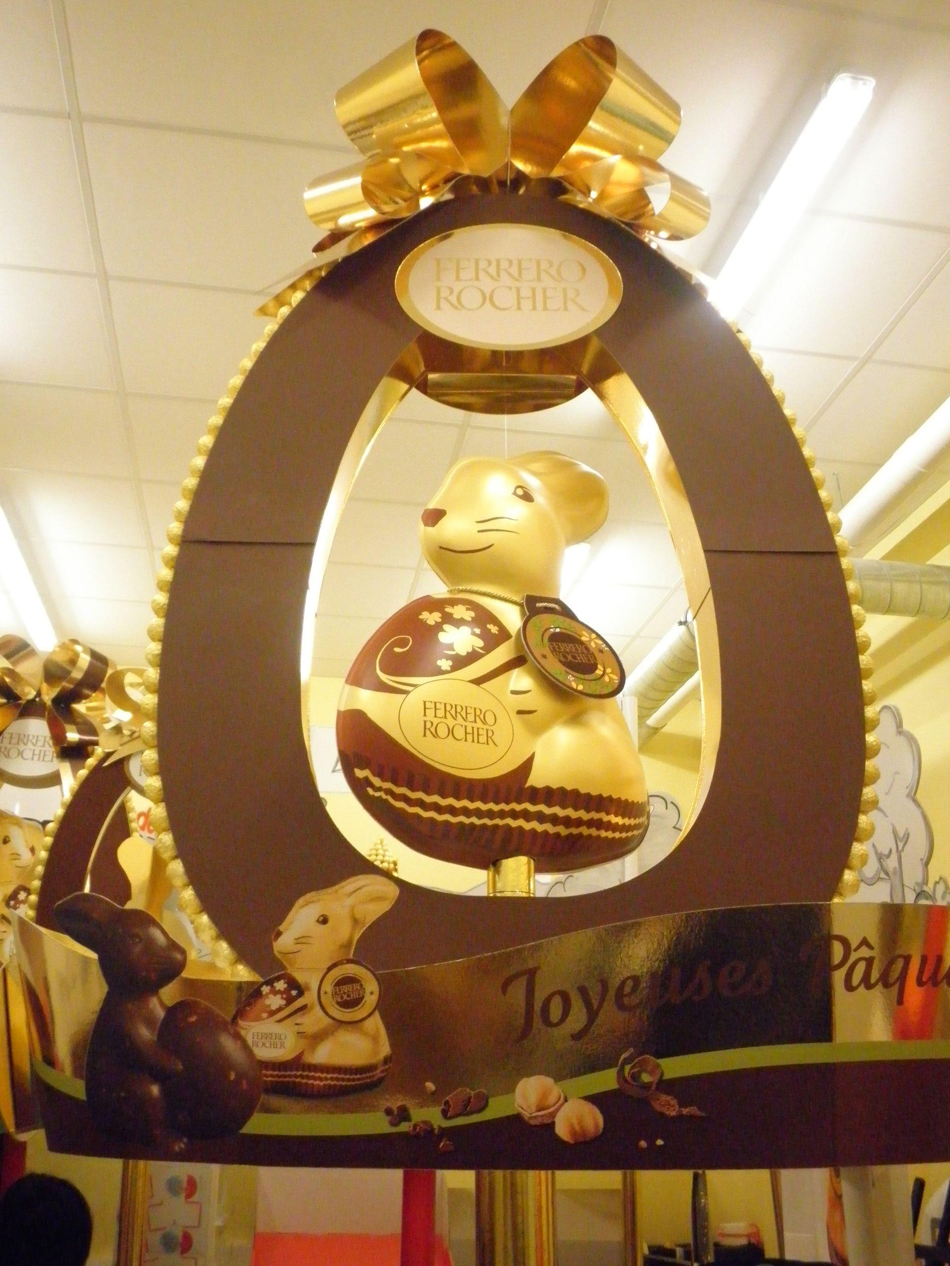 PLV îlot Ferrero Rocher Pâques France 2014