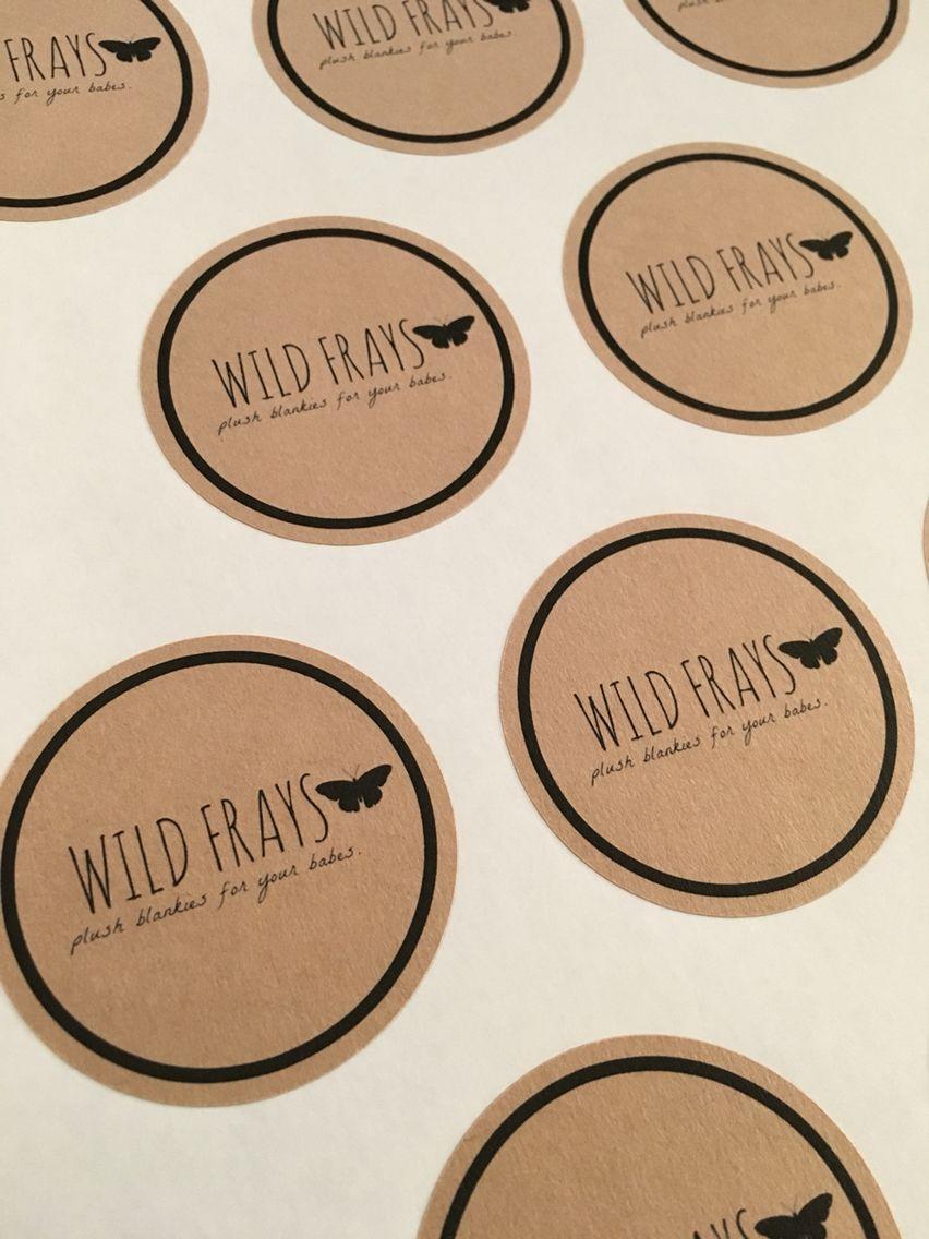 Custom Round Kraft Stickers Product