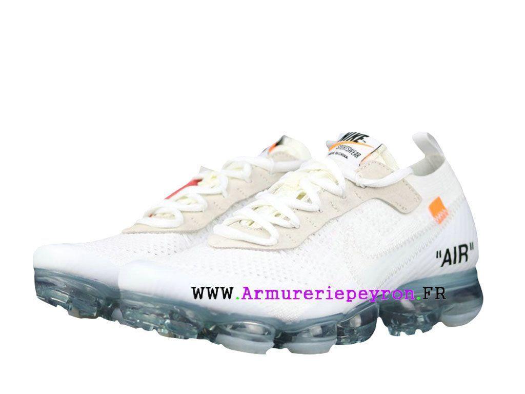 homme off-white x nike air max vapormax blanc