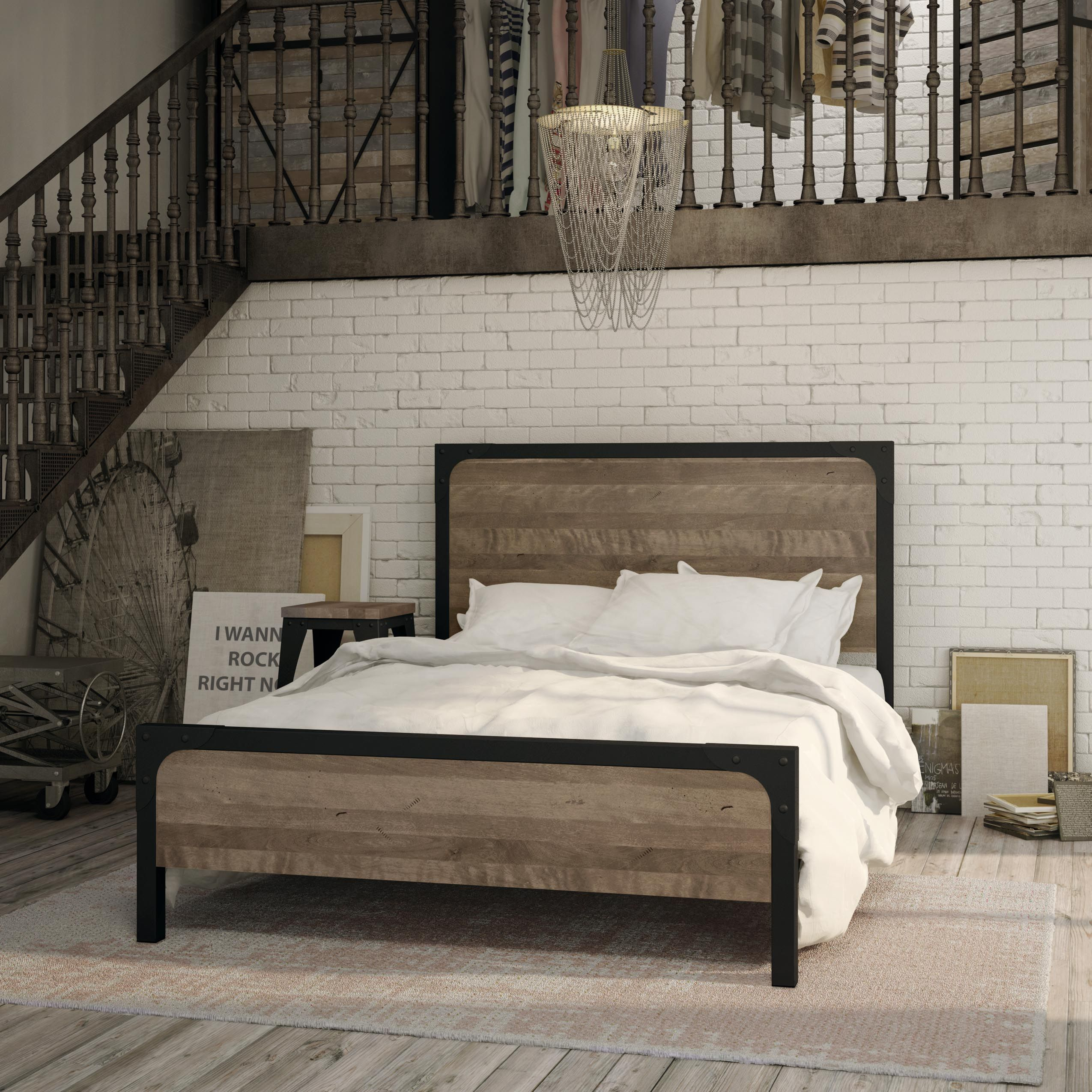 Amisco Cordoba Bed 12397 Furniture Bedroom Industrial Collection Contempor Apartment Bedroom Decor Bedroom Decor Inspiration King Bedroom Furniture