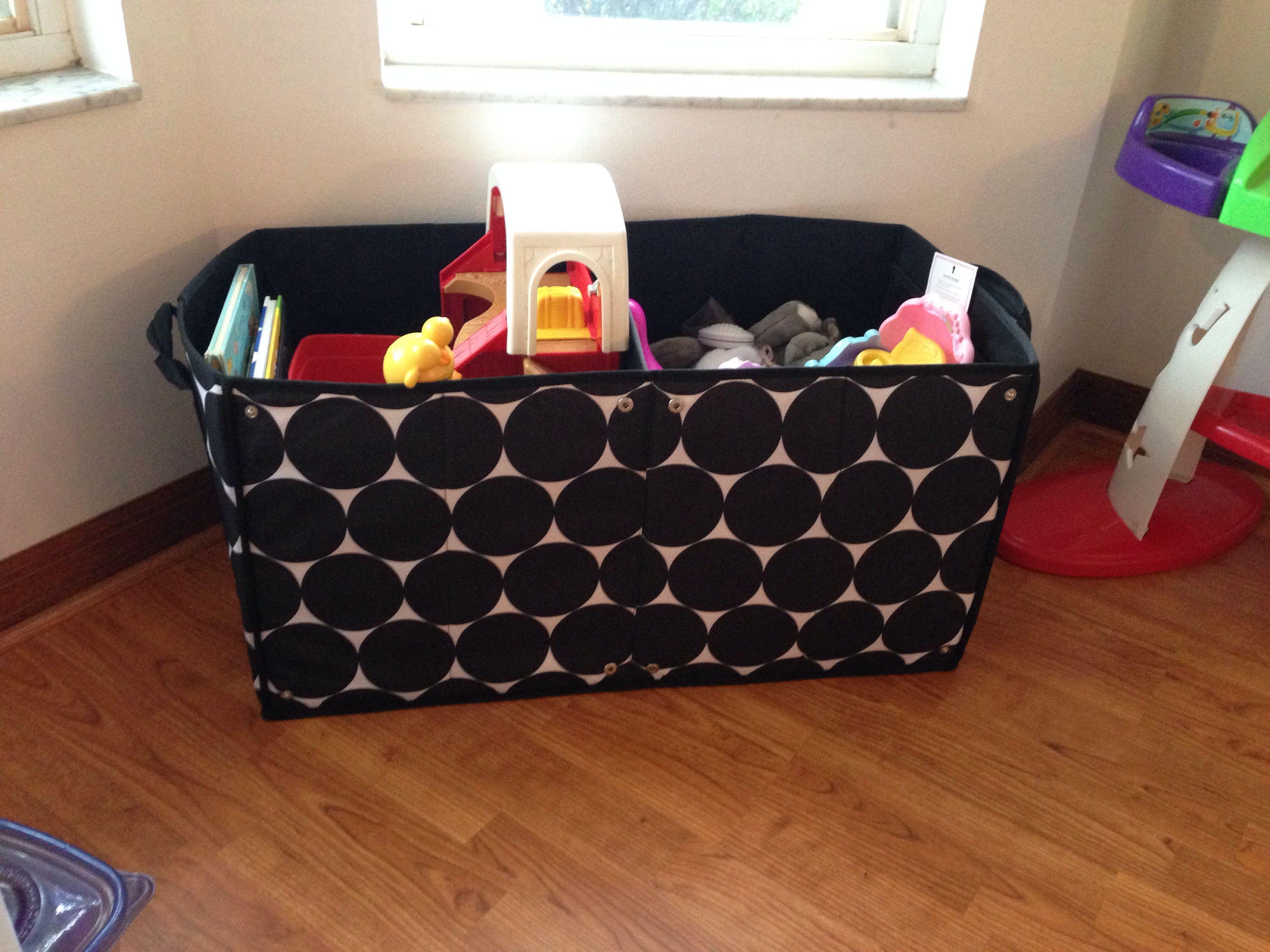 Thirty one gifts room to grow utility bin big dots toy storage