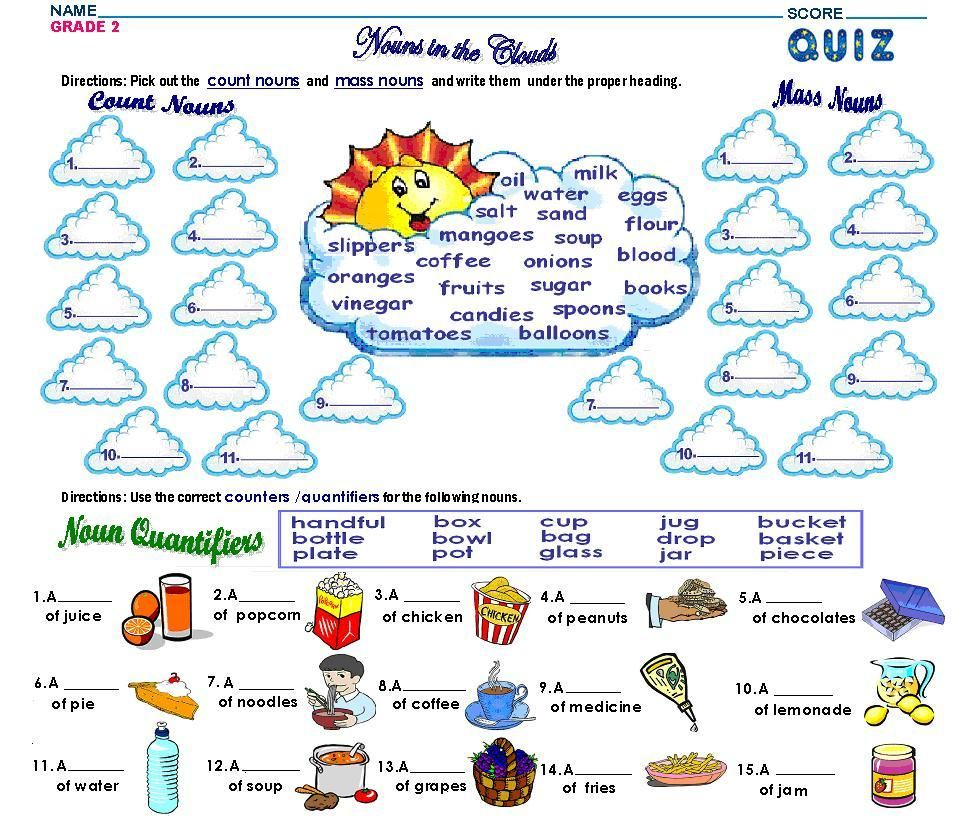 Worksheet Types Of Nouns Exercises 17 best images about esl groupe nominal on pinterest english grammar test lessons and count