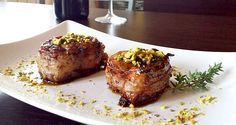 Photo of Honey pork fillet with bacon and pistachios! One of …
