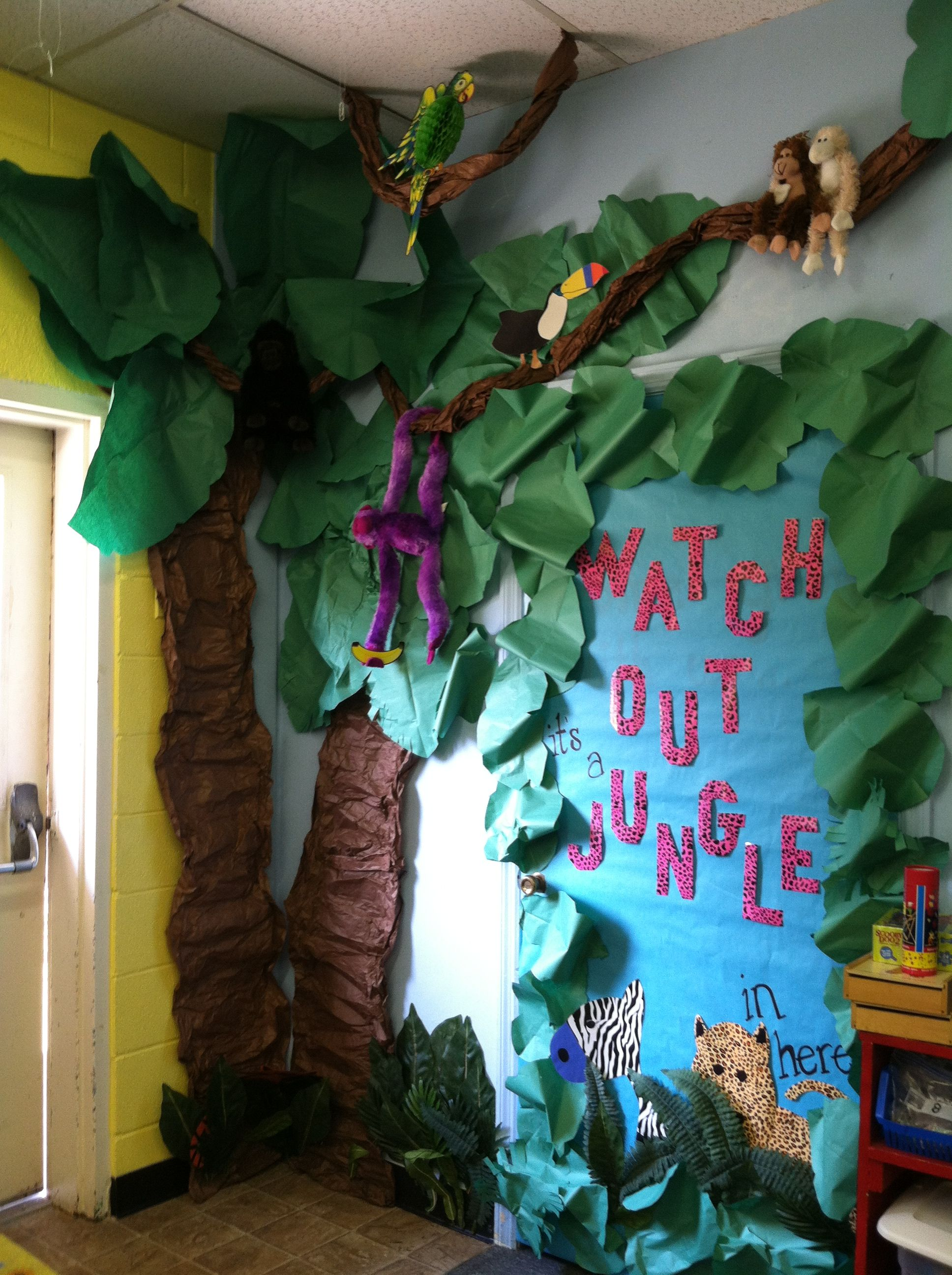 Rainforest Classroom Decor ~ Jungle safari theme classroom