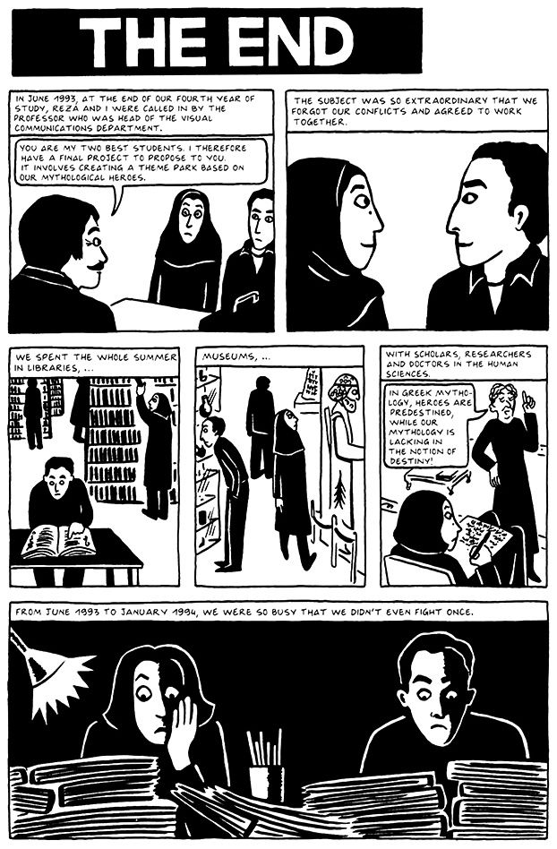 Chapter 19 The End From Persepolis 2 The Story Of A Return Graphic Novel Reading Comics