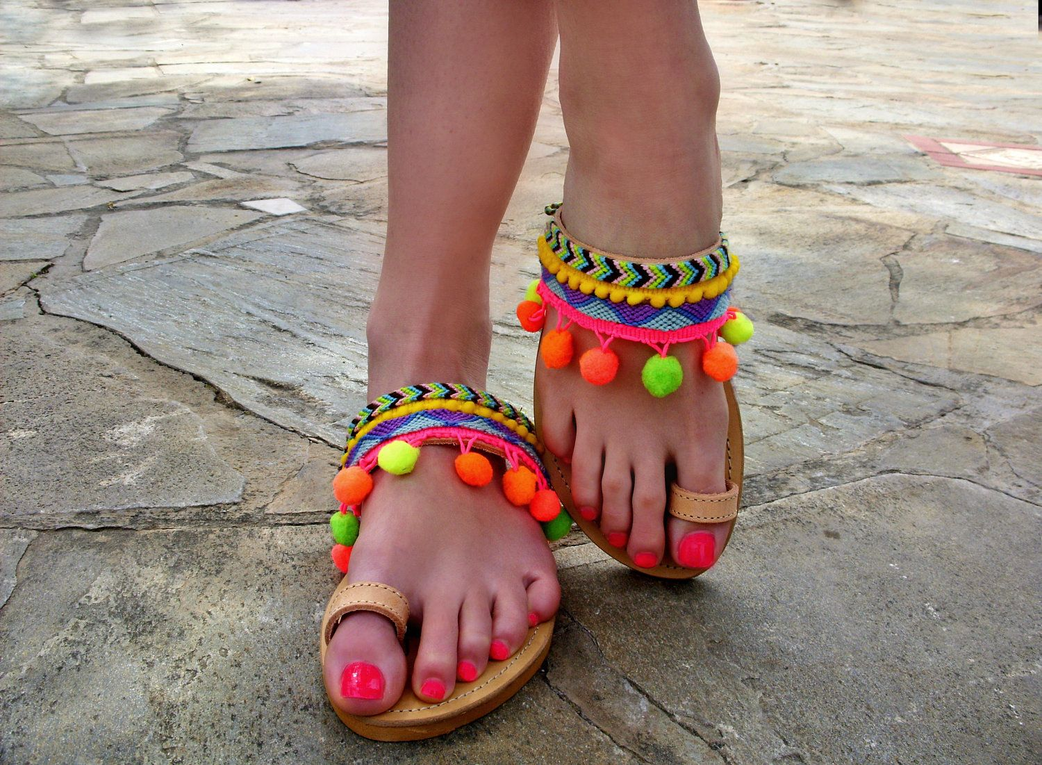 072142f52cfd71 Pom pom sandals Streets of Beirut   Womens