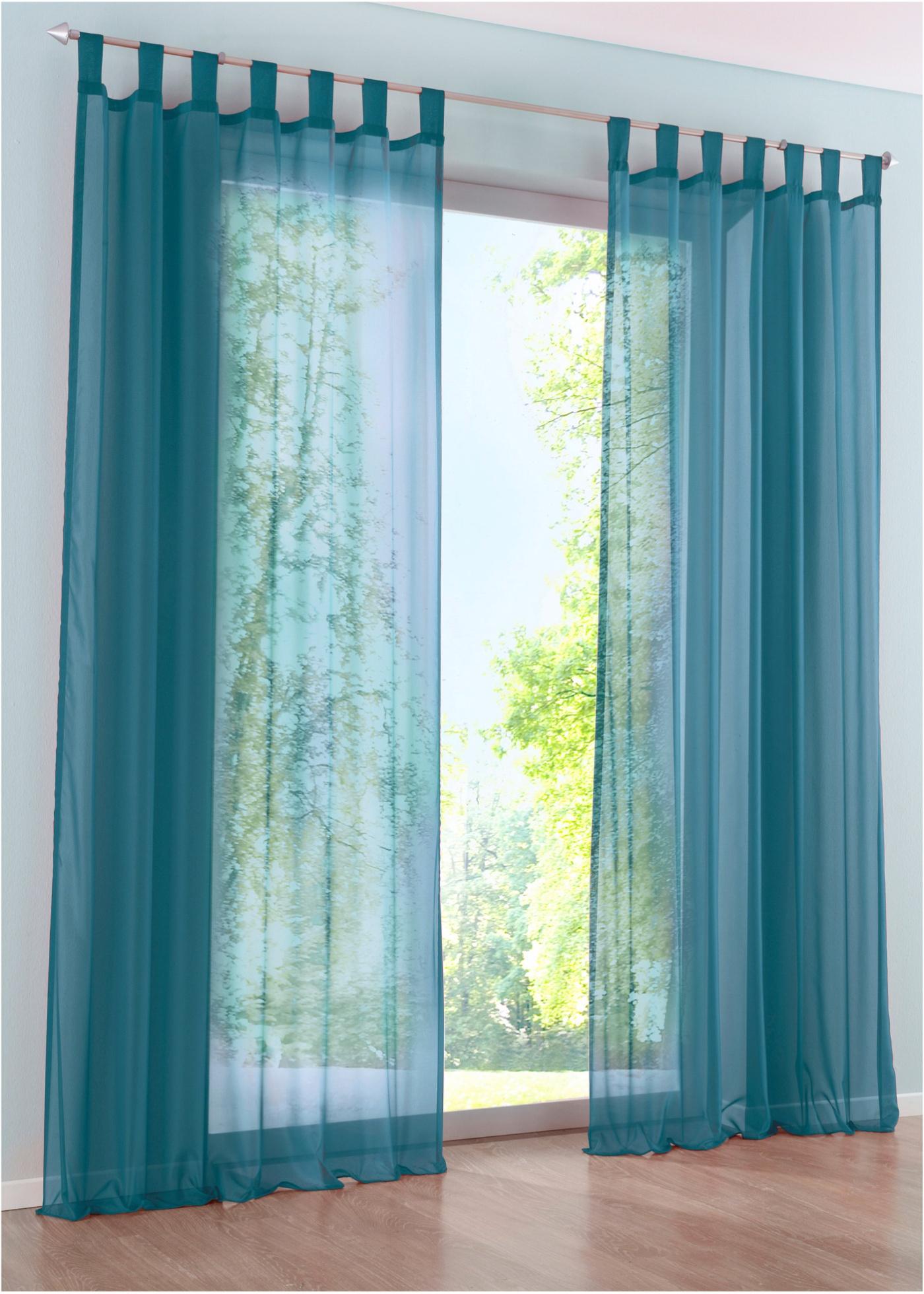 Transparente Gardine einfarbig (1er Pack) Gardinen