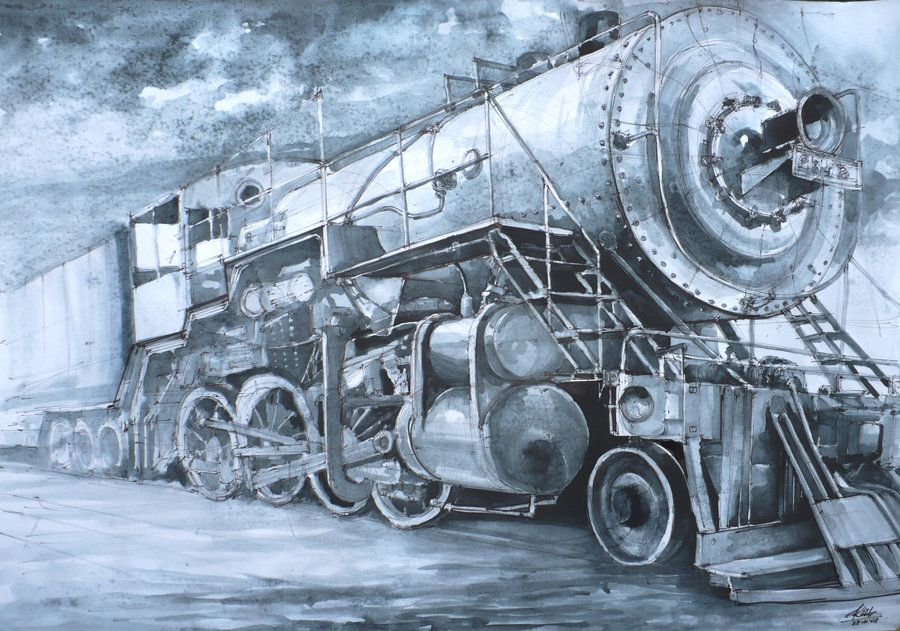 locomotive by Kasiarzynka on DeviantArt