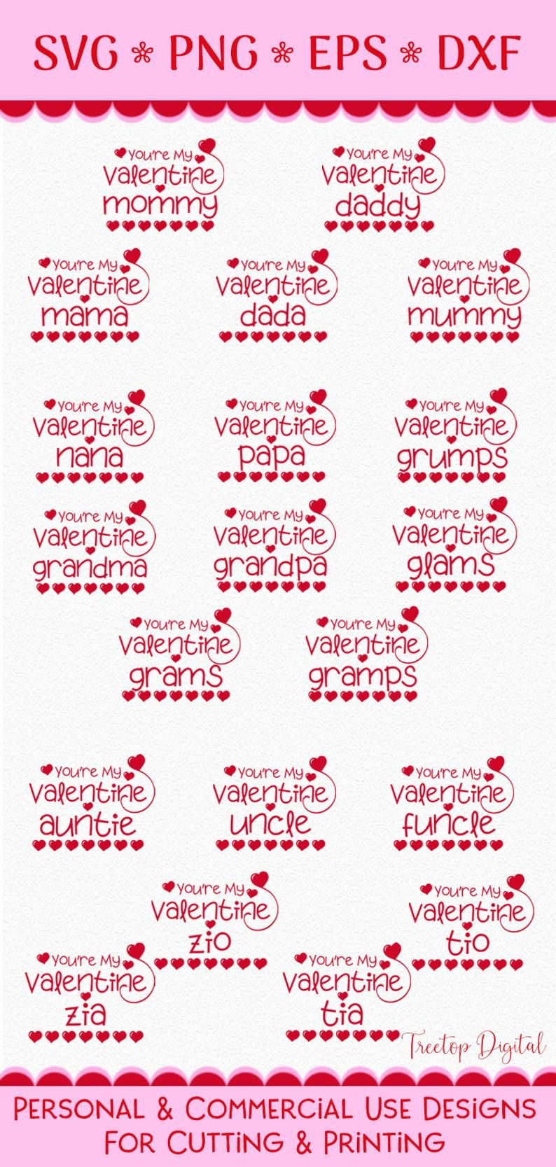 View Mommy's Little Valentine Cutting/ Printing Files Crafter Files