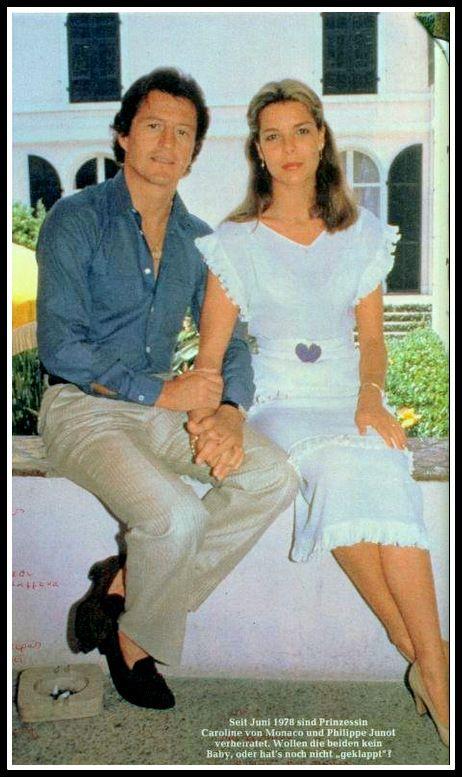 Princess Carolines First Husband: Princess Caroline And First Husband, Philippe.