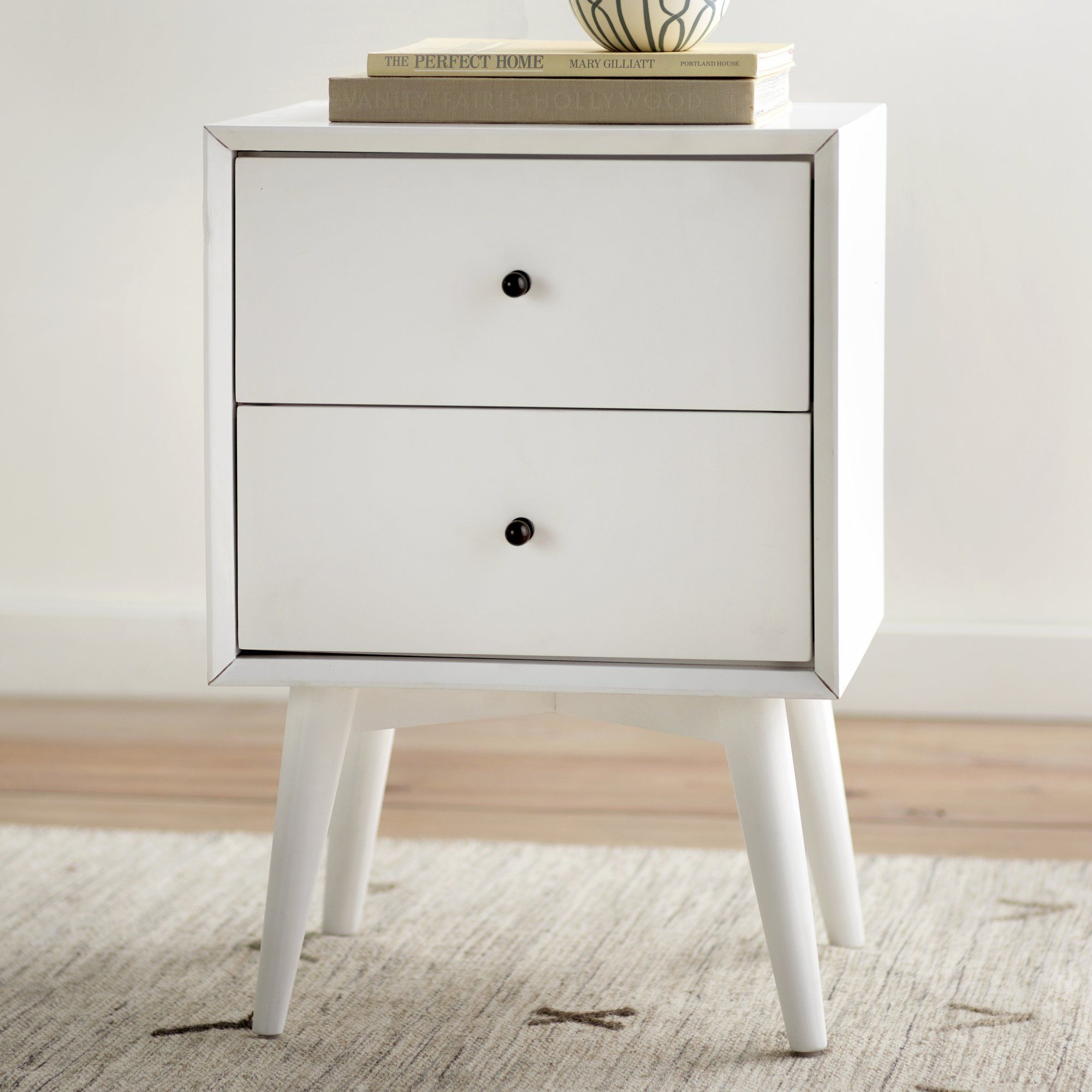 Best All Modern Parocela 2 Drawer Nightstand 7 5 High Drawers 400 x 300