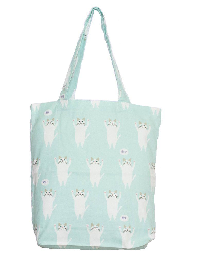 Printed Blue Cat Tote Bag | Canvas Tote Bags Online Shopping in ...